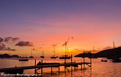Dusky sunset across Admiralty Bay, Bequia (grahamwiffen) Tags: pink blue sunset st reflections boats bay harbour dusk jetty vincent glorious stunning caribbean bequia grenadines colourful yachts stvincent olden stvincentandthegrenadines buoyant admiraltybay thegrenadines
