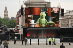 46sqm LED Screen and Stage (BigTVltd) Tags: uk england film square tv big concert display britain great trafalgar screen led event screens vt hire bigtv wwwbigtvcouk wwwskyflycouk bigtvltd