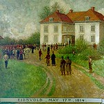 "<b>Eidsvold May 17, 1814</b><br/> Biorn, #200, Oil, Painting<a href=""//farm9.static.flickr.com/8541/8652930260_cdbdc0fdd7_o.jpg"" title=""High res"">∝</a>"