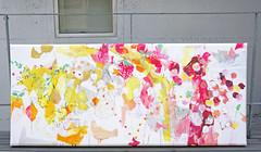 Work in progress :: Mabuta no ushiro no yurikago (2013) oil on canvas, ink, charcoa, coloured pencil 1500x650x60mm