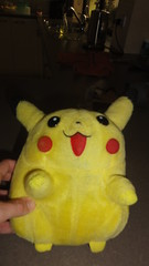 Talking Pikachu plush (RS 1990) Tags: toy doll soft plush cuddly april pikachu pokemon adelaide talking southaustralia batteries 1990s basic tomy apr licenced voicebox 2013