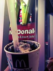 mi cumple no podía no tener helado, por más frío que haga!! :) y el 1er helado en United States of América tenía que ser en McDonald's :P