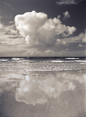 Unknown Beach South Uist The cloud (JB Morlot) Tags: sea sky blackandwhite abstract reflection heritage film beach face sepia clouds danger mediumformat landscape island hope mirror design marketing scotland fishing sand media solitude alone loneliness faith failure fineart country religion decoration atmosphere calm fate shore silence believe destiny serenity future collapse end change environment nordic strength aim meditation relaxation suffering healing 6x45 isles climatechange crisis infinite mystic deadend globalwarming hebrides anxious otherworld psychology hopeless southuist outerhebrides adversity nervousbreakdown scottishlandscape naturalelements nochoice multispace multidimension 654e