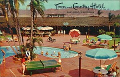 TOWN & COUNTRY Hotel, San Diego, CA (1950sUnlimited) Tags: travel vacation tourism hotel interior lakes motel roadtrips villages cocktail postcards leisure roadside poolside resorts midcentury cottages swimmingpools lobbies golfcourses lounges