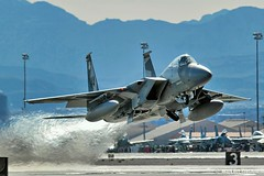Aggressor Departure (mvonraesfeld) Tags: las vegas red training plane flying fighter force exercise eagle flag aircraft aviation military air nevada flight jet off nv take wa douglas departure usaf base 65 wargames 133 squadron afb mcdonnell f15 65th nellis args aggressor img5783 780509