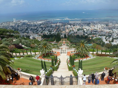 Panorama - Bahai Temple,overlooking Haifa Bay