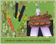 there is no *sub*stitute for you! (colorfulexpressions) Tags: birthday art watercolor candles 6ws buddha sub sixwordstory grinder hoagie quotation lrp birthdaygreetings italiansandwich colorfulexpressions richardledzianartist todeardoug