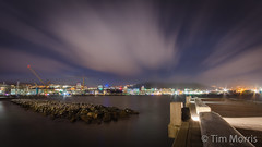 Wellington Harbour at night (timmelm) Tags: newzealand sky water clouds landscape harbour outdoor tripod wellington d5100 thepinnaclehof copyrighttimmorris tphofweek204