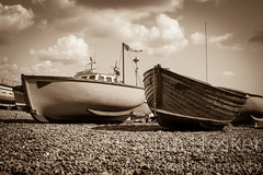 Untitled (2013-04-29 16:12:58) (Ian Hosker) Tags: sea summer fish tourism beach beer boats coast seaside fishing village tourists devon jurassic