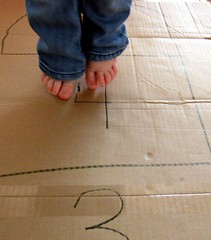 hopscotch 03 (momfetti) Tags: toddler cardboard hopscotch crayon