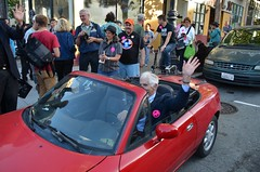 Protest at San Francisco Pride to reinstate Bradley Manning as SF Pride Parade Grand Marshal (Steve Rhodes) Tags: protest pride lgbt activism thecastro castrodistrict sfpride sanfranciscopride lgbtq danielellsberg ellsberg wikileaks freebrad sfshame freebradleymanning bradleymanning uploaded:by=flickrmobile flickriosapp:filter=nofilter ellsbergcar