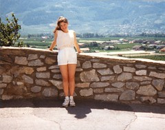 Lisa, Switzerland - 1988 (TempusVolat) Tags: woman girl teens lisa teen 80s brunette gareth tempus volat wonfor mrmorodo garethwonfor tempusvolat