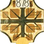 """<b>Processional Cross</b><br/> Schwarz, LFAC# 878, Stoneware, Ceramics<a href=""""http://farm9.static.flickr.com/8541/8699568484_8decf135ed_o.jpg"""" title=""""High res"""">∝</a>"""