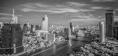 Bangkok city in day time with the river (anekphoto) Tags: road street city travel bridge sky urban white black blur reflection building tower grass station vertical skyline architecture modern clouds skyscraper river way landscape ir thailand hotel boat town office big high construction asia downtown day cityscape view apartment bangkok district bank business condo thai tropical residence viewpoint condominium
