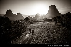 The Finger of God (Pawel A K) Tags: africa morning bw sun mountains kids trekking fingerofgod ethiopia simen semien simien theworldthroughourlenses