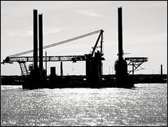 offshore rig (exacta2a) Tags: liverpool construction cranes rivers backlit rigs merseyside contrejoure