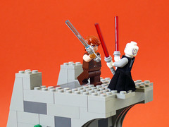 Duel on Yavin 4 (Oky - Space Ranger) Tags: temple star ruins lego duel anakin lightsaber wars clone skywalker yavin asajj ventress