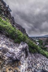 #332 On A Hillside (Keele_Photography) Tags: road wood trees mountains west rock clouds nikon side tripod hill fork slide canyon hills tokina rainy american cedar rockymountains 28 365 fx hdr gitzo d600 cmos 1628mm