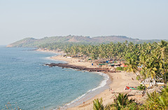 Goa beach (Amickman) Tags: ocean trip travel cruise sea summer vacation sky people sun india holiday reflection tree beach nature swim relax bay coast sand paradise coconut goa azure sunny palm resort exotic reflect shore palmtree tropical getty shanty tropic pavilion shack relaxation bliss spa summerhouse reggie tranquil waterside equator gettyimages idling vagator laze molder gettyimagesmiddleeast