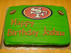 Football Cake by Jen A, Santa Cruz CA, www.birthdaycakes4free.com