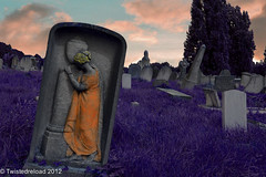 Purple Grass (Twistedreload) Tags: cemeteries art cemetery victorian angels