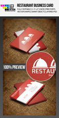 Graphic River - Restaurant Business Card Template (LetsJustDesign) Tags: red cooking restaurant cafe cook chef psd template businesscard catering visitingcard graphicriver