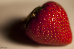 Glow Berry | 142/365 2013 (mfhiatt) Tags: red macro fruit strawberry day142 day142365 3652013 mfhiatt 365the2013edition 2013michaelfhiatt 22may13