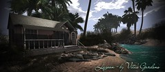 Working on new tropical rentals sim - Lagoon. (Vita Camino) Tags: ocean new beach gardens visit secondlife tropical rent sim vita locations slur 2016 rentals
