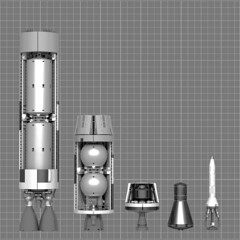 Boron Mission Cutaway (ABS doohickies) Tags: lego space basically gemini titan ldd render povray dc6transnistria rocket capsule boron