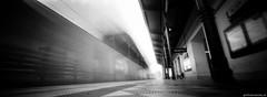 Pinhole Alser Strae (feurstein) Tags: pinholevienna ondupinhole pinhole vienna ondu lochkamera analog bw black white panoramic analogue film 35mm metro station u6 wien ubahn motion still schwarzweiss