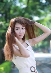 DP1U6190 (c0466art) Tags: lovely cute pretty university taiwan girl  beautiful eyes figure slim long hair sweet smile nextdoor kind charming gorgeous out door portrait light canon 1dx c0466art