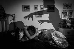 We Create Our Own Demons (aedphotography) Tags: shadow mood night portrait selfportrait monochrome bw blackandwhite