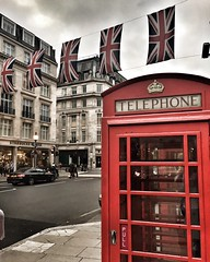 When in London... (s_sharkey) Tags: england busy regentstreet red telephonebox unionjack unitedkingdom uk london