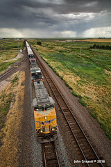 Racing the Storm (Colorado & Southern) Tags: unionpacific gees44ac manifest manifesttrain overlandroute trains train railfanning railroad railfan railway railroads wyoming wyomingtrains wyomingrailroads transcontinental emdsd70ace emdsd70m