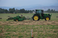 Making Hay (Bales) (Let Ideas Compete) Tags: hat bale bales tractor farm farmer