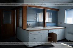 Blue Office (ficktionphotography) Tags: abandonedhospital blue blueroom cabinets generalhospital medical urbex computer abandoned abandonedbuilding urbanexploration