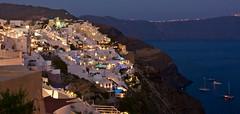 Dusk @ Santorini (somabiswas) Tags: dusk oia santorini boats greece aegean sea cliffs