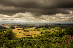 Incoming Storm (Ian Emerson) Tags: countryside colourful hills hill high yorkshire walking stormy rain clouds moody fields patchwork trees wildlife