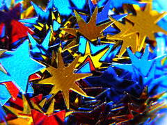 Alternative Stars (Alan FEO2) Tags: stars 30ml scoop measure shapes confetti indoors alternative colours gold red blue silver macromondays macro panasonic dmc g1 2oef