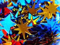 Alternative Stars (Alan FEO2) Tags: stars 30ml scoop measure shapes confetti indoors alternative colours gold red blue silver macromondays macro panasonic dmc g1 2oef