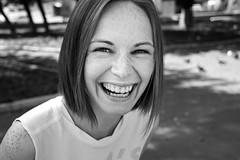 Olga (Ktoine) Tags: portrait blackandwhite teeth smile laugh olga bw russian russiangirl