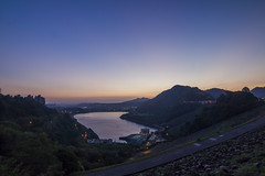 early morning (Olen photo) Tags: travel trip 200km taiwan taoyuan photo view beautiful color relax scooter tired road tree 500d canon tokina t116 early morning sunrise sun purple mountain