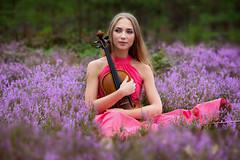 The violin (inese.stoner) Tags: girl portrait flowers violin beautiful naturallight