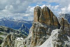 Averau, Cortina Dolomites (Robert J Heath) Tags: summer italy cortinadampezzo europe scenic rocks rocky rockarchitecture pinnacles viaferrata climbing walking alps dolomites