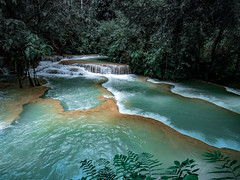 At Waterfall #3 (wianphoto) Tags: jungle olympusomdem5markii laos wianphoto omdem5markii cloudy water image highwater stones clouds trees summer waterfall river tree sky sunny olympuspro1240mm omdem5mark2 olympusmzuiko1240mm asia