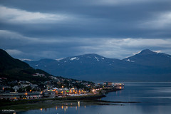 Troms, Norway (Obliot) Tags: night grandenord obliot montains canon sea norway eos eos6d ef24105 flickr nord 6d mirror agosto lights anm troms clouds troms norvegia no