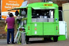 The Little Green Van 02 (byronv2) Tags: citroen vintage van thelittlegreenvan littlegreenvan diner cafe promenade portobello sea seaside edinburgh edimbourg scotland forth firthofforth rnbforth river coast coastal peoplewatching candid street coffee colour green