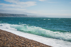 I Remember .. (NVOXVII) Tags: waves beach coast dorset green blue landscape seascape pebbles jurassiccoast nikon summer breakingwave nature windy shore outdoor horizon motion
