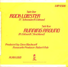 The B-52s - Rock Lobster / Running Around (1979) (stillunusual) Tags: theb52s b52s rocklobster runningaround sleeve picturesleeve recordcover artwork single vinyl record bside 1970s 1979
