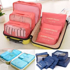 6 Pcs/Set Waterproof Clothes Storage Bags Packing Cube Travel Luggage Organizer (wupplestravel) Tags: bags clothes cube luggage organizer packing pcsset storage travel waterproof
